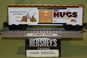 K-Line 646706 Hershey's HUGS with Almonds Boxcar (O/027 ga) wks w/ Lionel 94