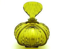 Large Signed Lalique Amber Mirabel Perfume Bottle Original Box Mint