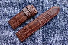 24/24mm Red Brown Genuine OSTRICH Leg LEATHER SKIN WATCH STRAP BAND fit Panerai