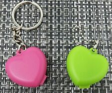 Tupperware Heart Shaped Keychain Pill Storage Container  Set 2 New!!