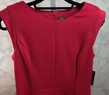Vince Camuto Women Cap Sleeve Dress Size10 Pink New with Tag Sheath MSRP $128.00
