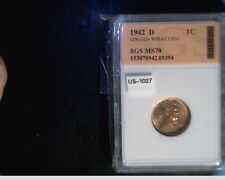 1942-D US Lincoln Wheat Cent, Very High Grade Copper Penny (US-1027)