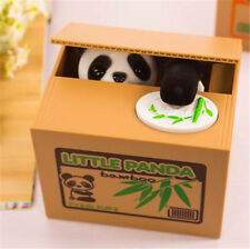 Zoo Bamboo Panda Stealing CoinCollection Money Bank Little Storage Saving Box