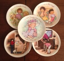 Lot of 5 Small Vintage Avon Mother's Day Plates 1980's Mini Decorative Plates
