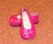 Doll Shoes, 46mm FUSCHIA Slip ons for Ann Estelle, Others