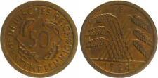 50 Pfennig J.310 1924 E Kursmünze , prägefrisch-st schöne Tönung