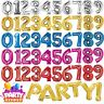 "34"" 86cm Number Phrase Foil Helium Balloons Various Colour Birthday Anniversary"
