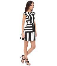 Kate Spade Women's Black Multi Stripe Kite Bow Back Dress  sz 10