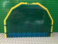 """LEGO Lot 2 Trans-Dark Blue Door Assembly from Neptune Discovery Lab 6195 """"2662"""""""
