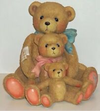 Cherished Teddies Theadore, Samantha & Tyler Figurine # 951196 Large 9 inches