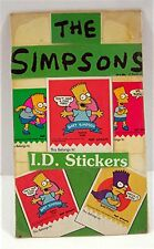 Bart Simpson I.D. Stickers Asst Old Gumball Vending Machine Display Card #302