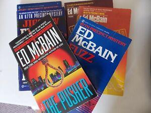 Lot of 6 Ed McBain 87th Precinct Novels: Ax + Gangs + Pusher + Jigsaw + Fuzz +
