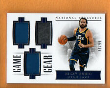 RICKY RUBIO 2017-18 NATIONAL TREASURES GAME GEAR TRIPLES JERSEY /99
