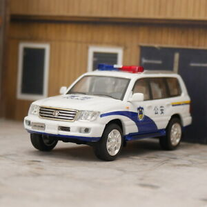 HIKASI 1:64 China Police Car Toyota Land Cruiser LC100 Diecast Car Model