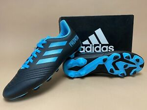 NEW! Adidas Predator 19.4 Soccer Shoes Cleats Black Blue Size 6 / 7.5W  (G25823)