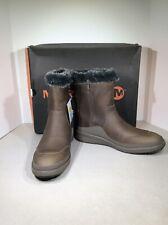Merrell Tremblant Ezra Ice+ Women's Sz 9 Taupe Waterproof Winter Boots X21-1832