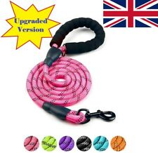 More details for 5ft leash braided rope pet dog leads strong reflective soft for m/large dog walk