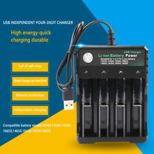 4Slots Battery Charger Smart Lithium-Ion Battery USB Charger With Protection