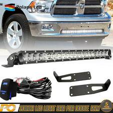 """20"""" 21"""" LED Light Bar Kit For Dodge Ram 1500 2500+Wiring+Bumper Mounting Bracket"""