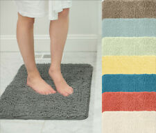 New ListingQuick Dry Chenille Bath Rugs 17x24 Soft Bath Mats for Bathroom in 25 Colors