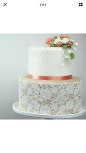 1 X  Extra Large Rose Edible Cake Lace.   Look At The Photos For Great Ideas