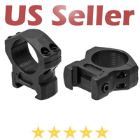 "UTG Leapers Tactical 1"" 2PCs Low Profile Steel Picatinny Scope Rings 16mm Wide"