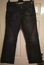 Men's G Star Raw Jeans 29W 32L 96 GS 3301 Blue Distressed Design