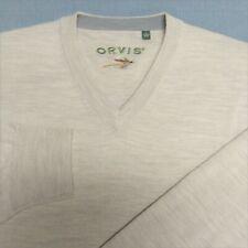 ORVIS V NECK 100% MERINO WOOL SWEATER--XL--LOOKS UNWORN!!--PERFECT!!--MINT!