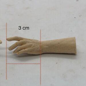 Coppia di mani uomo per statue restauro pastori statua 3 Cm Palmo Dita legno