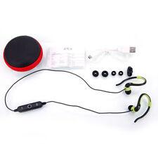 Wireless Bluetooth V4.1 Sport Headset Headphone Ear-Hook for Computer BT16 Green