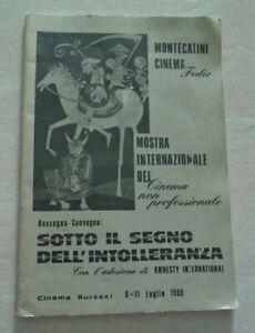 MONTECATINI CINEMA FEDIC MOSTRA INTERNAZIONALE DEL CINEMA NON PROFESSIONALE 1980