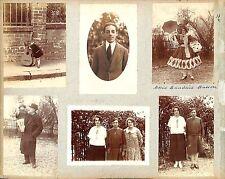CRECY SUR SEINE COSTUME THEATRE ENFANT GUITARE  PHOTOS COLLÉES  1920 20s