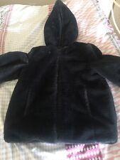 Zara Girls Faux Fur Hooded Coat Age 10 Years