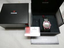 NOS Tudor Black Bay RED Rose Dial on Vintage Leather  79220R w/ ETA  - Warranty