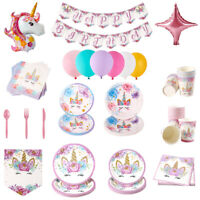 Unicorn Birthday Party Range Tableware Balloons Supplies Decorations Baby Shower