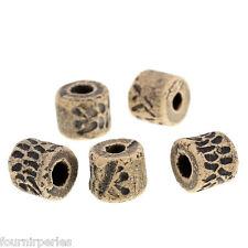 250 Perles intercalaire Rond Céramique Motif Gris 10x9mm B30119