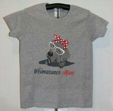 Weimaraner Mom Ladies Size Small T-Shirt- Gray