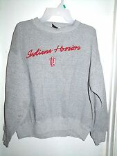 Signal Indiana Hoosiers Gray Black Blend Sweatshirt Embroidered Adult L *FLAW*