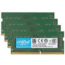 4x Crucial 4GB DDR4 2400T PC4-19200 2400Mhz Laptop Memory RAM SO-DIMM 260pin @BM