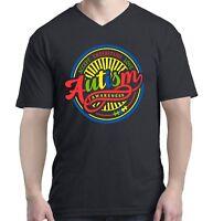 Accept Understand Love Autism Awareness Circle Men V-Neck Puzzle Shirts