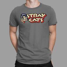 Stray Cats T-Shirt Rockabilly Rock Logo Heavy Band Retro Cult Concert Tee 70s