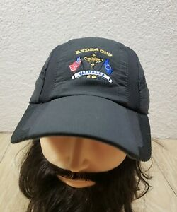 Ryder Cup Valhalla Imperial X-Static Hat Black Strapback Vented Mesh Panels