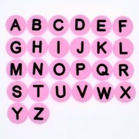 Pabucle Pink 26pcs Letters Shoe Charms Adapt for Wristband Child Teaching Gifts