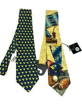 New With Tags Lot of 2 West Virginia  University Silk Ties GO FIGHT WIN!