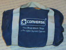 VINTAGE 1984 CONVERSE OLYMPIC GAMES COMPACT GYM / DUFFEL BAG! BLUE/OFFICIAL SHOE