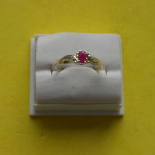Ruby Unbranded Yellow Gold Natural Fine Gemstone Rings