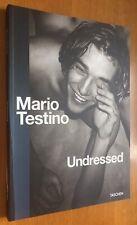 Mario Testino firmado fotógrafo Undressed ORIG. firma firma autógrafo