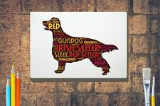 More details for irish setter word art canvas a4 a3 a2 a1 mothers day gift personalised option