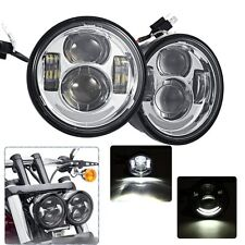 2x Motorcycle Daymaker Projector LED Headlights Dual For Harley Dyna Fatbob FXDF