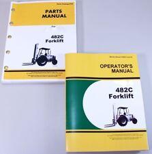 Operator Parts Manuals Set For John Deere 482C Forklift Owner Catalog Book